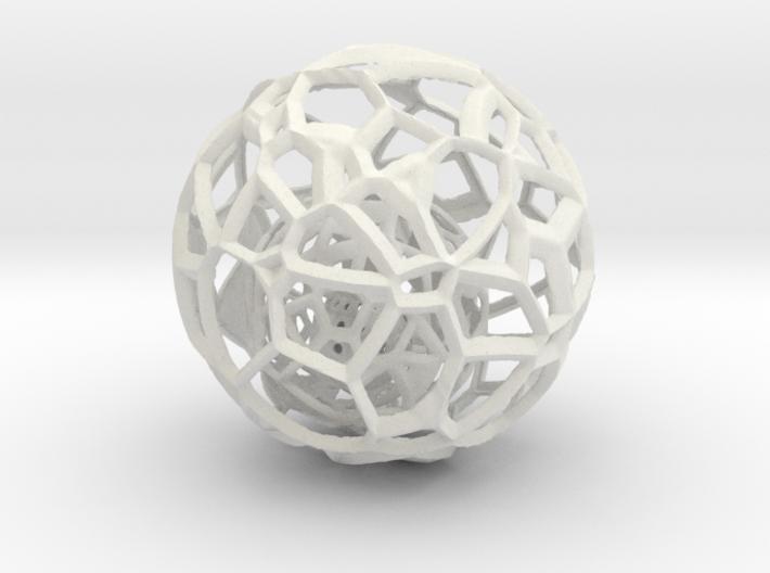 Sphere within a sphere within a sphere 3d printed