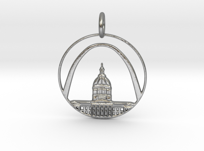 St. Louis Pendant With Loop 3d printed St. Louis Pendant With Loop (different materials have different prices)