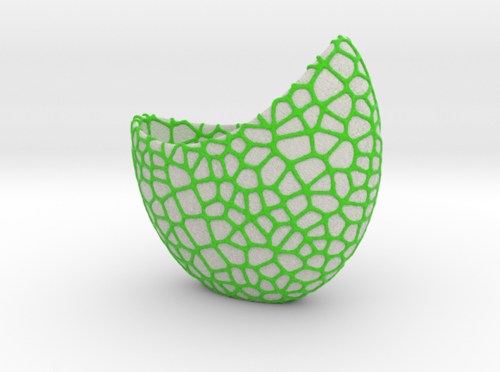 Organic two-color skulpture pot (20 cm) 3d printed Size 19,5 cm. Choose your own two colors!