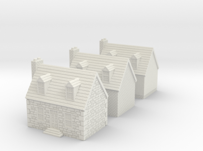 10mm Colonial Houses For Rusty 3d printed