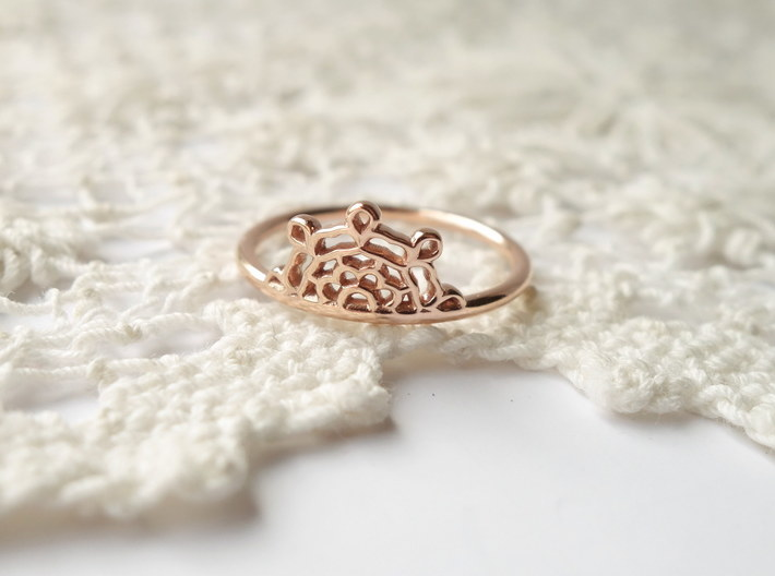 Half Lace Ring - Size 6.5 3d printed