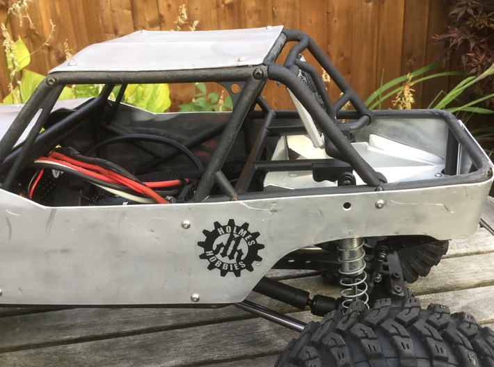 Axial Wraith 'Fastback'  conversion (for radiator) 3d printed axial wraith fastback tube frame