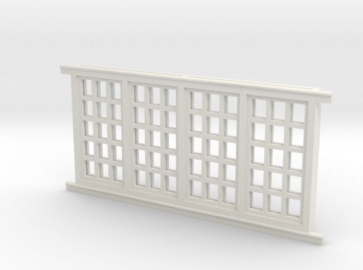 Red Barn Window Group D (1) - 72:1 Scale 3d printed