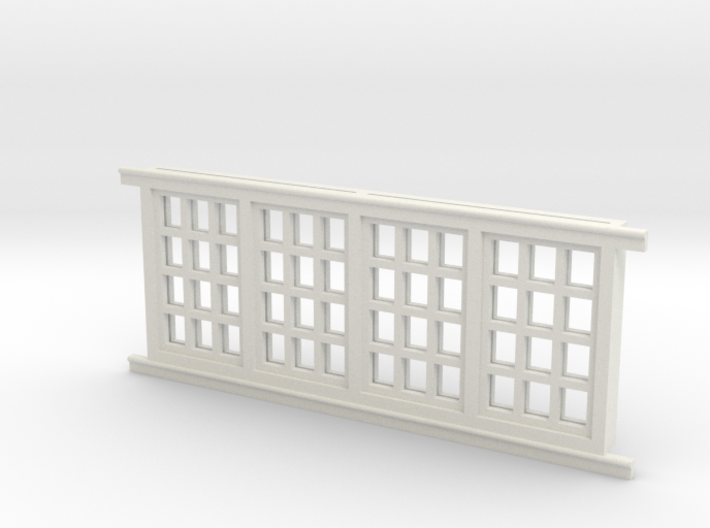 Red Barn Window Group C (1) - 72:1 Scale 3d printed