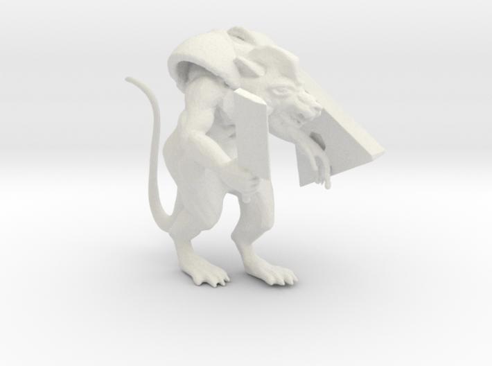 Armored Ratman 3d printed