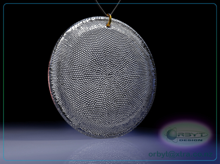 Asteromphalus Diatom pendant ~ 39mm 3d printed Asteromphalus Diatom pendant raytrace render simulating polished silver material