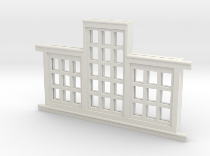 Red Barn Window Section 3x3-3x5 White 3d printed