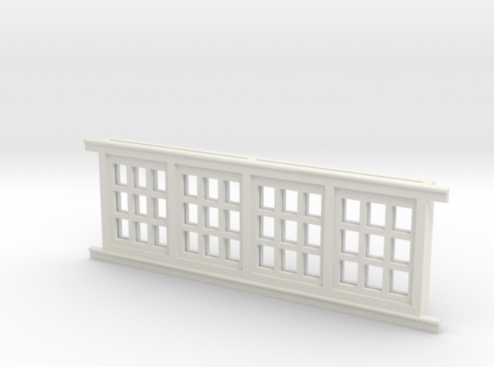 Red Barn Window Section 3x3 White 3d printed