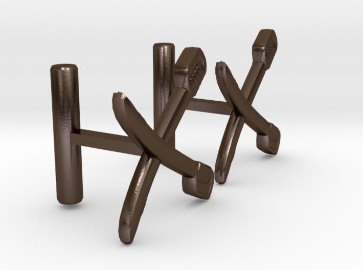 Saber Cufflinks 3d printed