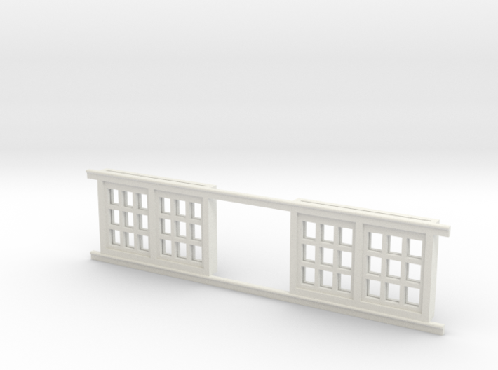 Red Barn Window Section 3x3 Special White 3d printed