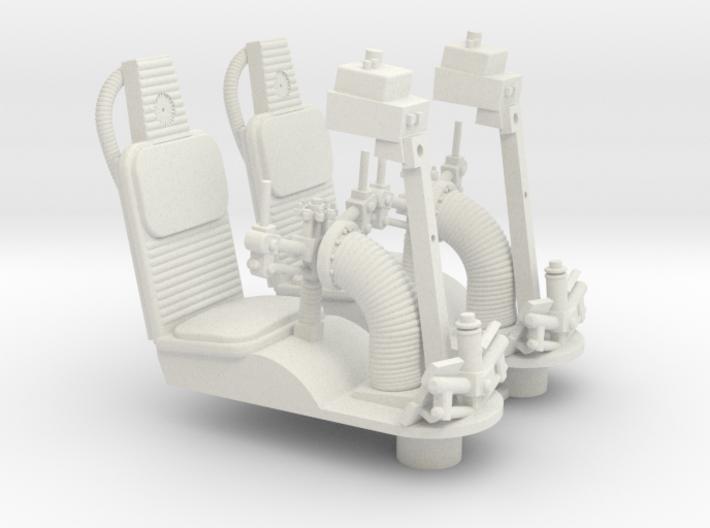 1/18 GUNNER SEATS 3d printed