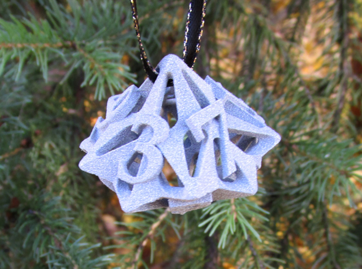 Pinwheel Die10 Ornament 3d printed In Alumide