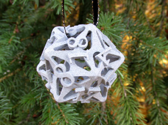 Pinwheel Die20 Ornament 3d printed In Alumide