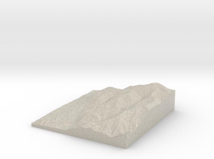 Model of Miners Ridge 3d printed