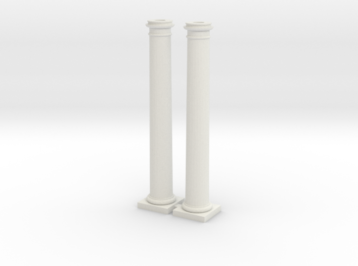 Doric Columns 3000mm hight at 1:76 scale X 2 3d printed