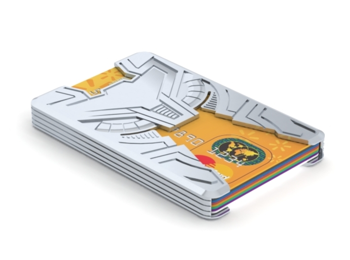 """Sliminal """"Varia"""" (8 Cards) 3d printed Solidworks render showing product in use."""