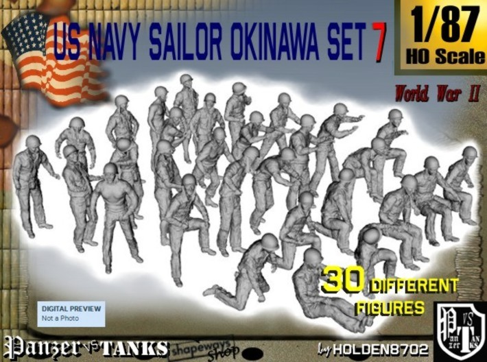 1/87 US Navy Okinawa Set 7 3d printed