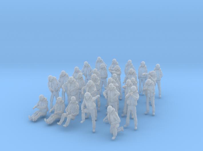 1/160 US Navy Sailors Combat SET 2 3d printed