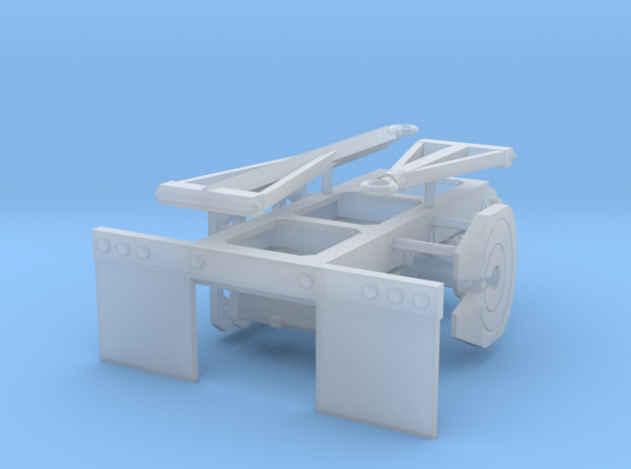 1/87th Tandem Axle Converter Dolly for trailers 3d printed