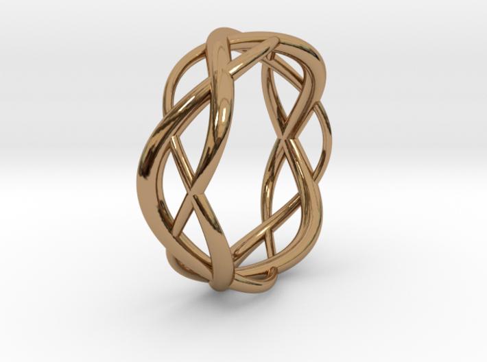 Lissajous Ring 17mm, 3-7-5 3d printed