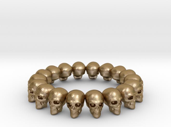 Skulls Ring 17.5 mm 3d printed