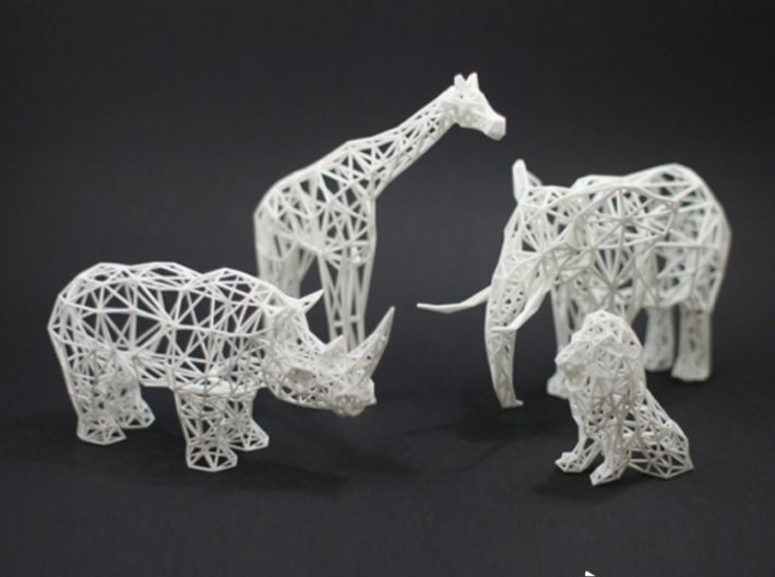 Digital Safari- Rhino (Large) 3d printed Digital Safari Animals- Giraffe, Rhino, Elephant, Lion