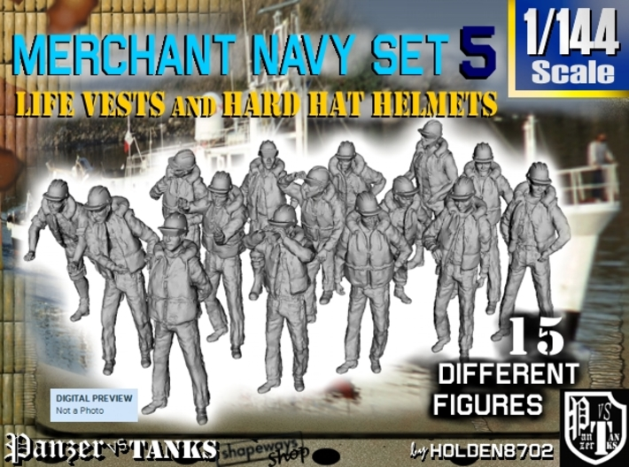 1/144 Merchant Navy Set 5 3d printed
