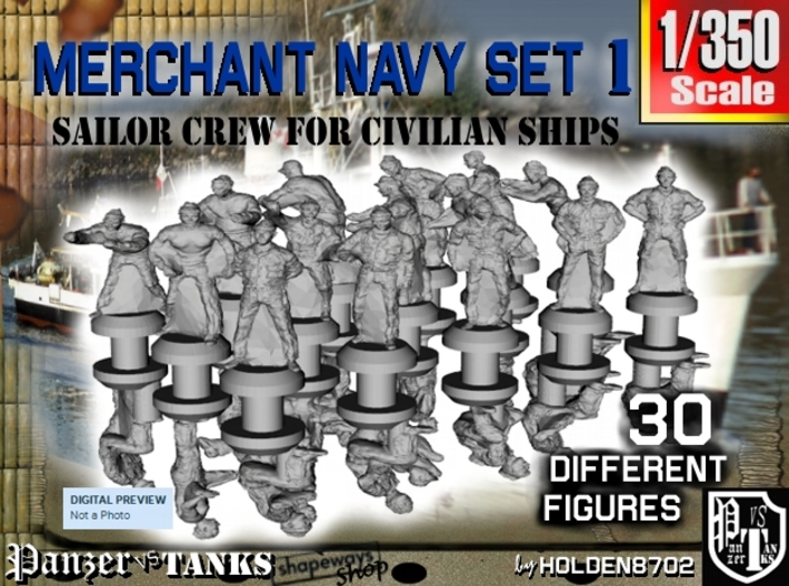 1-350 Merchant Navy Crew Set 1 3d printed