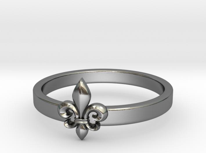 Fleur de lis ring 6 US size (16.5 mm) 3d printed
