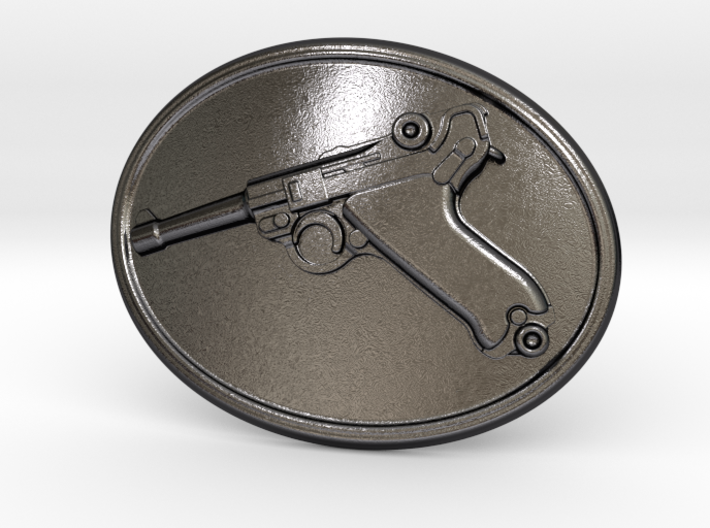 Luger Gun Belt Buckle 3d printed