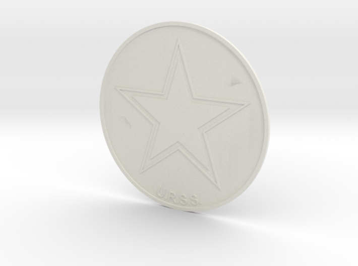 URSS Roundel Coaster 3d printed