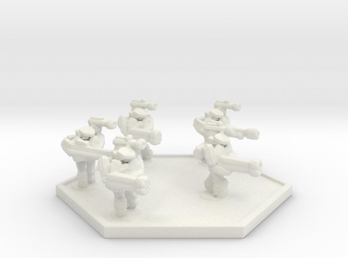 UWN Marine Standard Squad (Hex) 3d printed