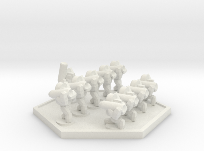 UWN Army Planetary Guard Anti-Armour Squad (Hex) 3d printed