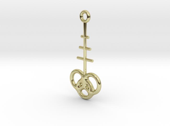Interlocking rings earring 3d printed