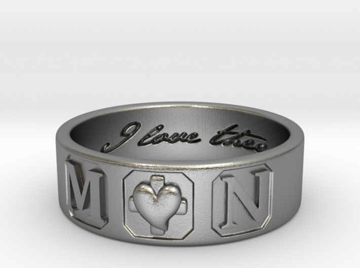 M and N Ring Size11 3d printed
