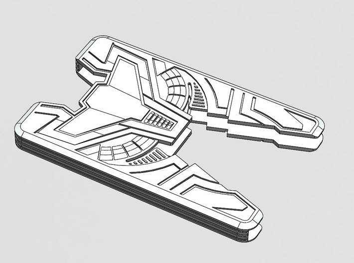 "Sliminal ""Varia"" (6 Cards) 3d printed Vector art showing design features."