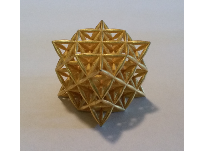 Flower Of Life 64 Tetrahedron Grid 3d printed