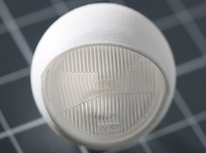 Sand Scorcher Lidded Headlamp (single) 3d printed This part fits the stock 'glass;