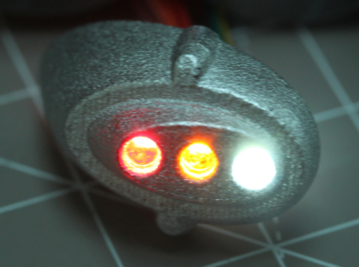 Sand Scorcher Rear Light LED Holder 3d printed This part accepts 3x Tamiya 3mm LEDs
