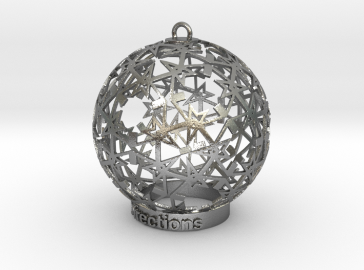 Directions Ornament for lighting 3d printed Directions on Silver ornament for lighting