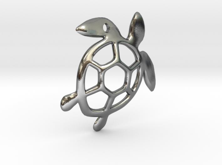 Sea Turtle Pendant 3d printed