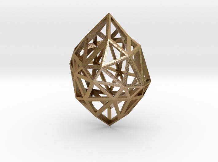 Pendant Diamond Rough 3d printed