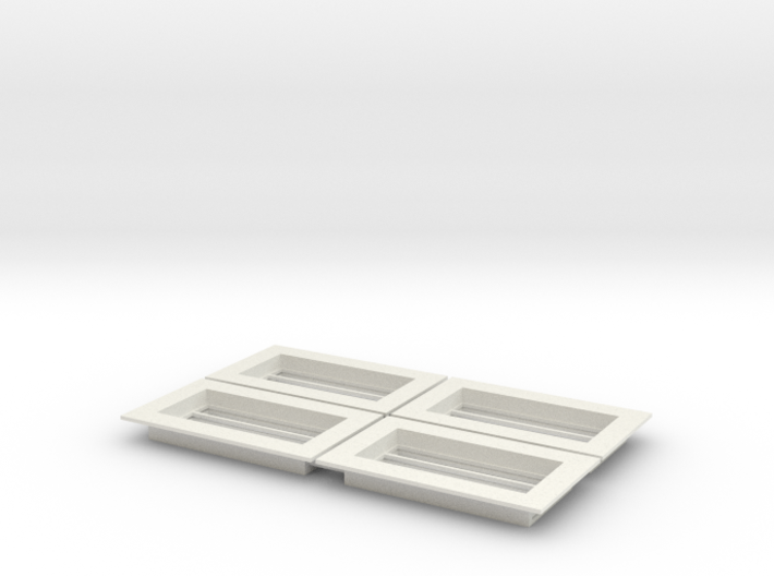 Skylight - Slotted(4)_White 3d printed