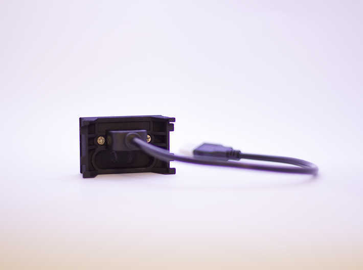 USB Charger Panel for Volvo C30 | S40 | V50 | C70  3d printed Photo from the back
