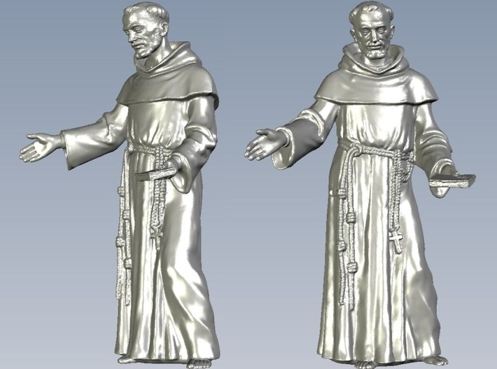 1/15 scale Catholic priest monk figure A 3d printed
