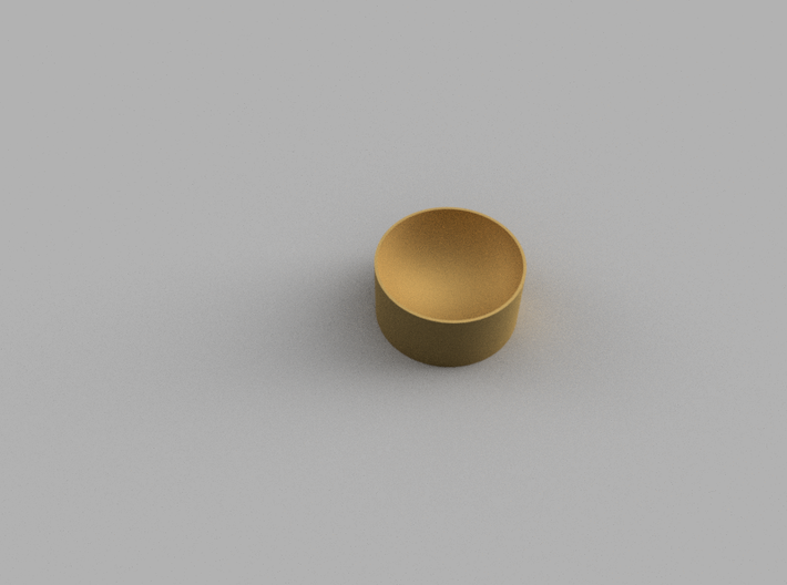 Coin Cup 3d printed Render from Fusion360 design suite