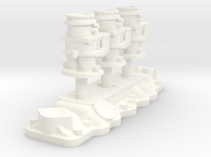 1/8 Flathead Triple Deuce Carb Kit 3d printed