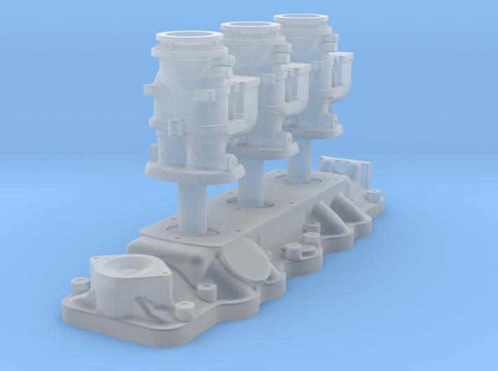 1/18 Flathead Triple Deuce Carb Kit 3d printed