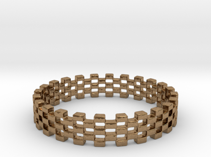 Continum Ring (US Size-8) 3d printed Brass Continum ring is shining brightly
