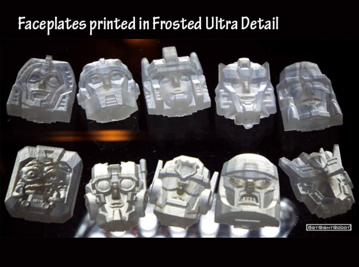 Graduate Chase Faceplate (Titans Return) 3d printed Frosted Ultra Detail Prints, case is middle of the bottom row
